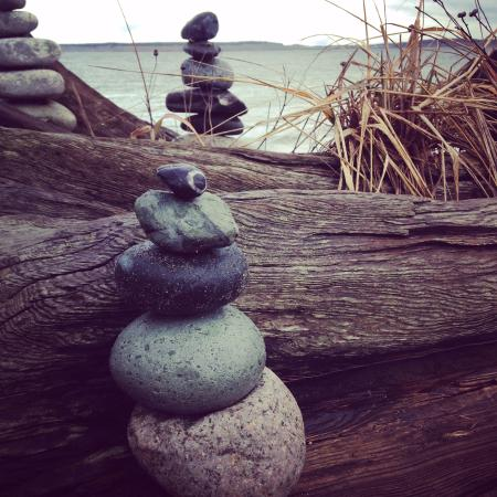 Fort Worden State Park: Got to contribute my own rock stack!