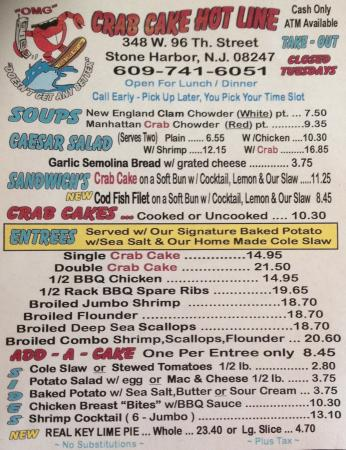 Stone Harbor, NJ: 2016 Menu