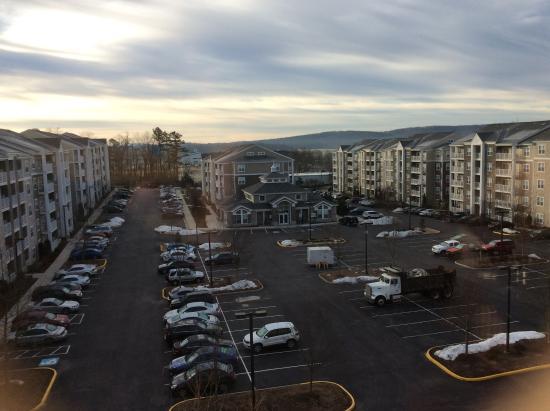 Blacksburg, VA: view of apartment complex at rear of hotel