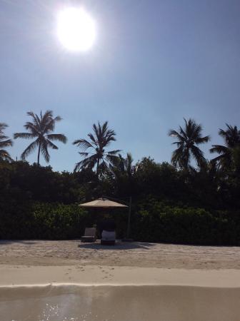 Shangri-La's Villingili Resort and Spa Maldives : sunrise , view from the water