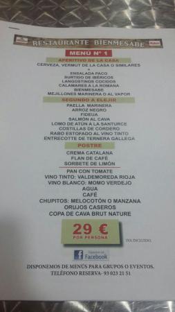 Viladecans, Spagna: Menús para grupos