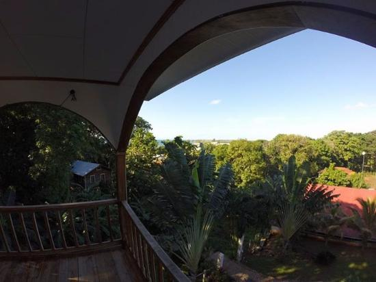 The Colibri Hill Resort: Looking west from the room, hammock view.