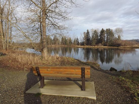 Courtenay, Canadá: Benches and Viewing locations on the Airpark Walkway