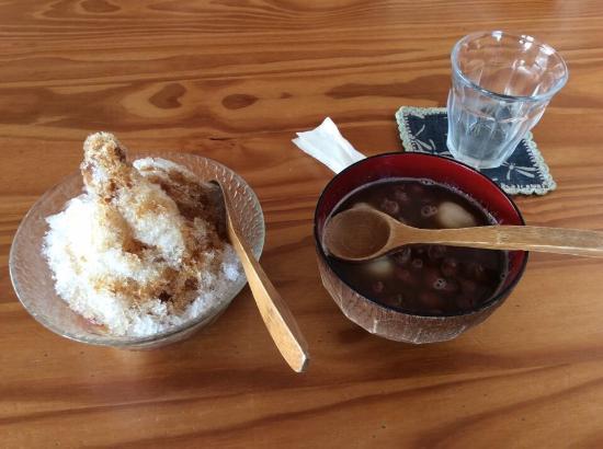 Kadena-cho, Japón: 沖縄そば、ぜんざい、ジンジャーエール