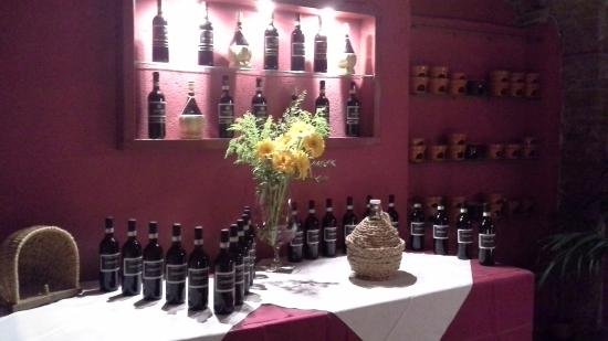 Montespertoli, Italia: sala degustazione vini toscani