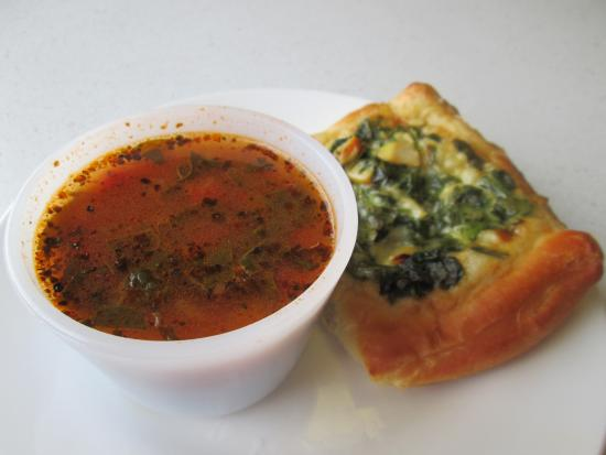 Lake Milton, OH: Chicken Florentine Pastry with a cup of Vegetable Soup