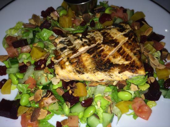 Needham, MA: Chopped salad with salmon