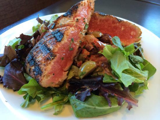 Needham, MA: Seared Ahi tuna over Mediterranean salad