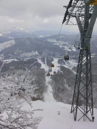 Pyeongchang-gun, Sydkorea: cable car to the top