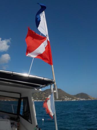 Grand-Case, St. Martin/St. Maarten: Fly your flag