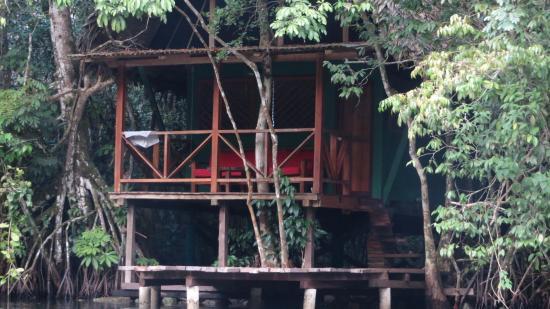 Finca Tatin Hotel &  Travel Agency: 2 story waterfront cabina