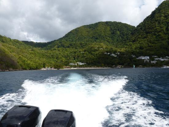 Vieux Fort, Saint Lucia: Having to leave was made easier as we did it at speed!