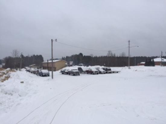 Richards Motel & Restaurant: View from the snowmobile trail.