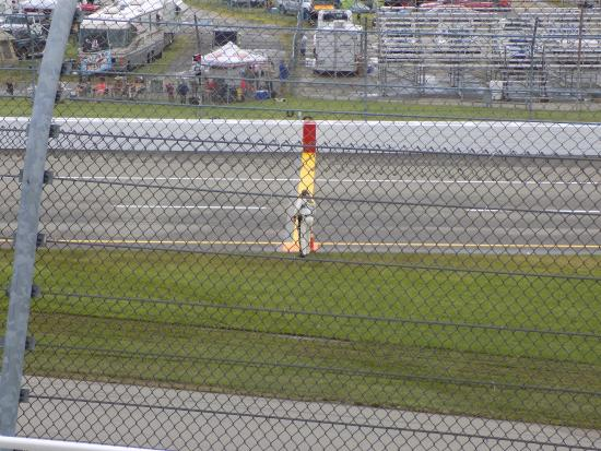 Brooklyn, MI: Entrance to pit road from seats.