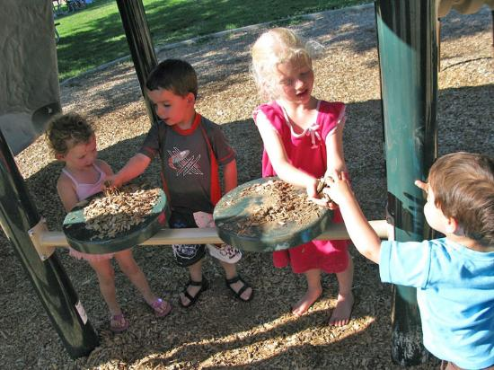"Eagle Island State Park: ""Selling food"" at the playground with cousins."