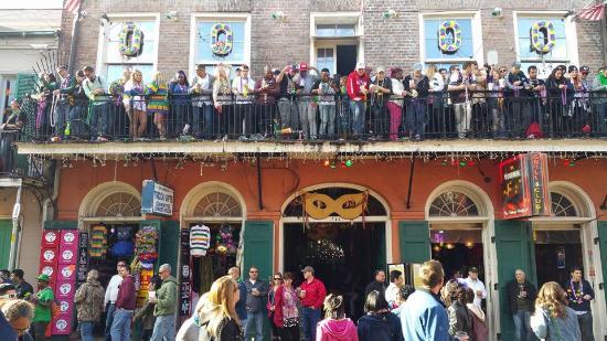 Mardi Gras 2016 Bourbon Street Balcony