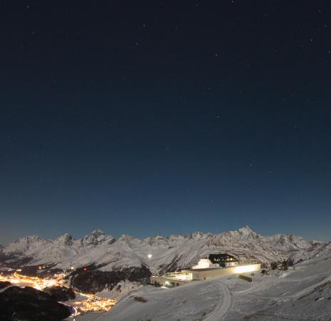 Samedan, Svizzera: Vollmondnacht auf Muottas Muragl