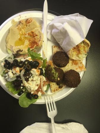 Garland, TX: My favorite, the Mediterranean Platter