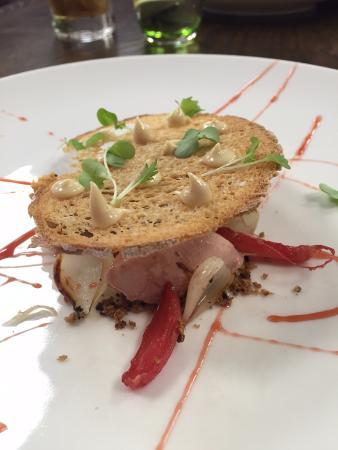Lower Beeding, UK: Chicken sourdough and radish
