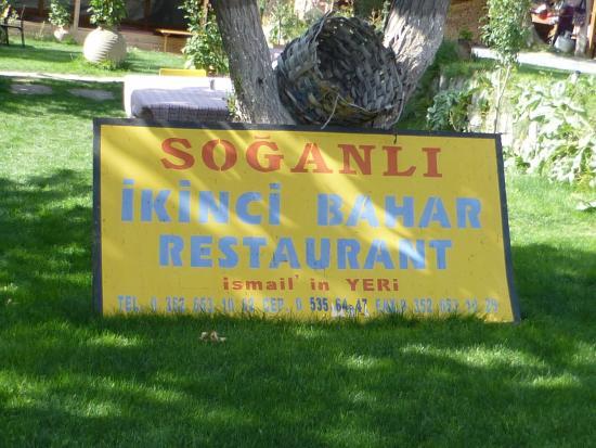 Kayseri Province, Turquia: El cartel de la entrada