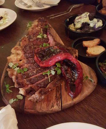 Hitchin, UK: Fabulous Ox Steak cooked to order