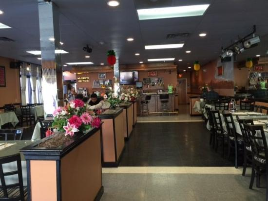 Worcester, MA: Inside view of the dining room at Anh Thu II