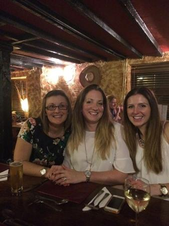 Dereham, UK: The birthday girl and friends