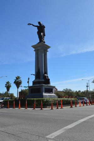 Rosenberg Library: Rosenberg and Broadway the Texas Heroes Monument newly restored in Jan 2016