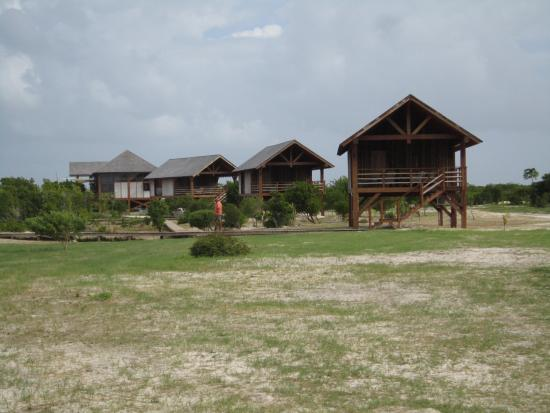 Codrington, Barbuda: View of the complex from the South.