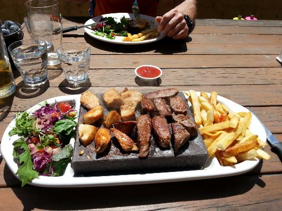 Honest Lawyer: Stone grill meal with four different meats