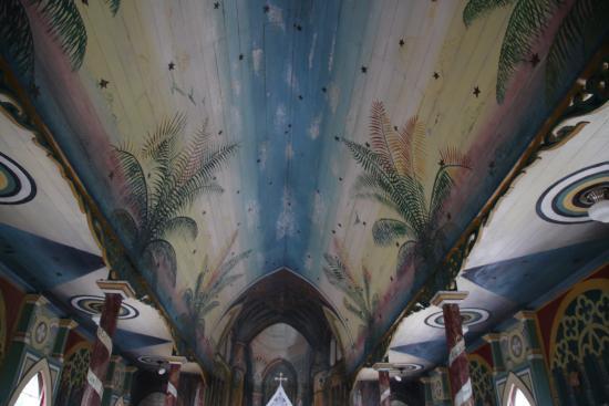 Honaunau, HI: Beautiful painted ceiling