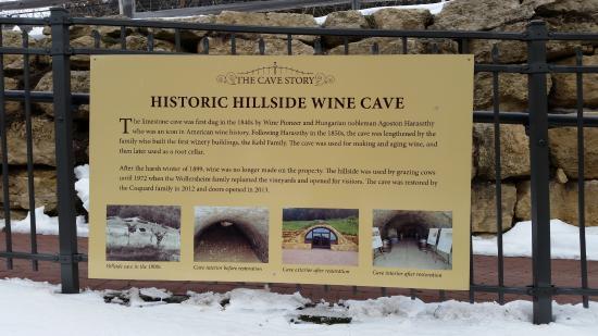 Prairie du Sac, WI: Wine cave history.