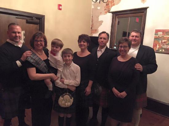 Black Mountain, NC: Our friends recently celebrated the life of 18th century Scottish poet Robert Burns at Que Sera.