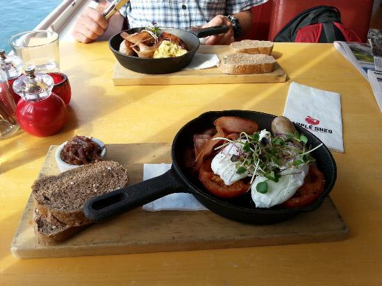 Mapua, Nuova Zelanda: Cooked breakfast
