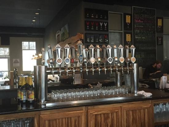 Portage, MI: The taps are reflective of their wide range of choices.