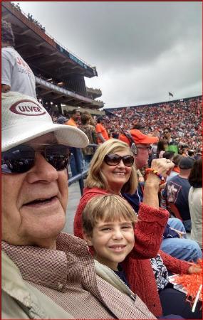 Auburn fans John and RoseAnn Denson