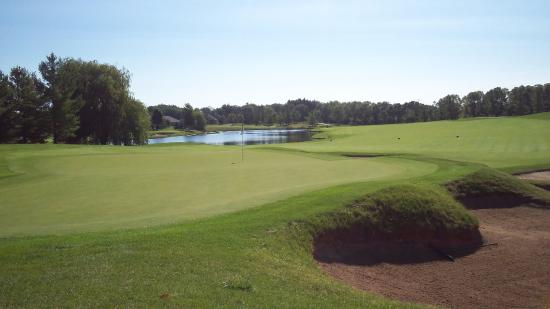 Sheboygan Falls, WI: You'll want to have a sharp short game at The Bull. Here's the view at the second green.