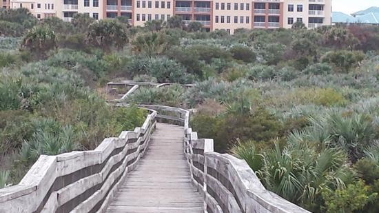 New Smyrna Beach, Φλόριντα: View of boardwalk