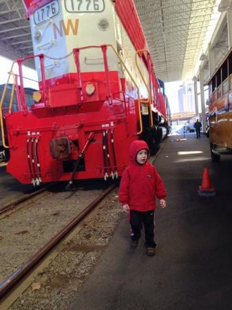 Roanoke, VA: He Loved the big trains