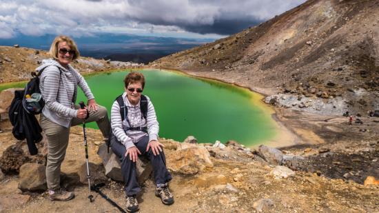 Tongariro National Park, Nueva Zelanda: short break on our way down