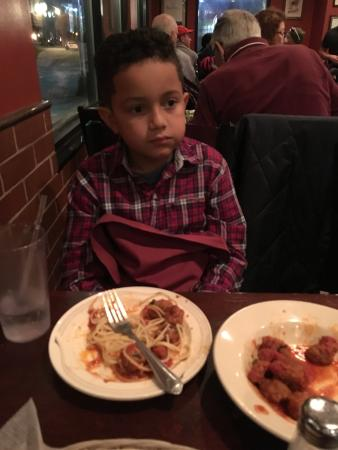 North Bergen, NJ: My son enjoying his pasta