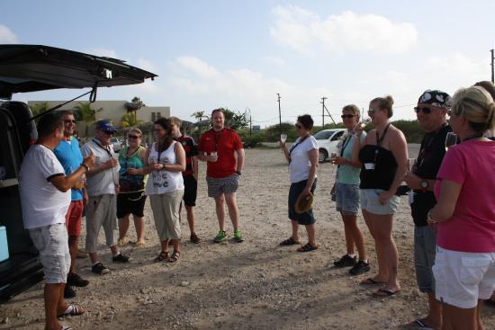 Kralendijk, Bonaire: Begrüßungssekt am ersten Strand
