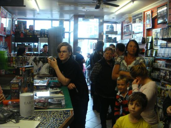 Bexhill-on-Sea, UK: Darth Vader Dave Prowse Signing Session