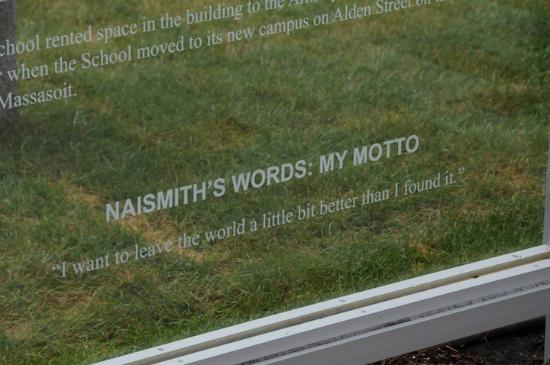 Springfield, MA: Naismith's Words..