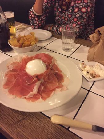 Porto Fluviale: Buffalo mozzarella with prosciutto.  Something that definitely brought me joy on this trip to Ro