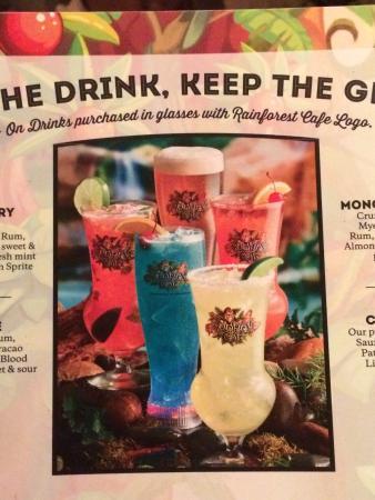 Rainforest Cafe Menu Drinks