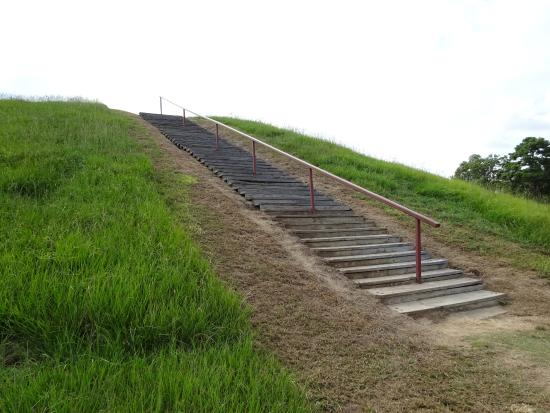 Natchez, MS: Steps leading up to the upper mound