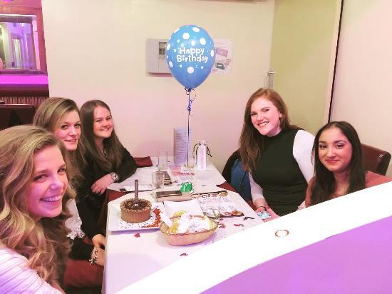 Market Drayton, UK: Hazel Celebrating birthday party at Oruna