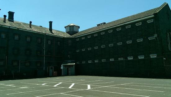 The rear section of the Old Geelong Gaol building
