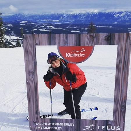 Kimberley, Kanada: Instagram frame at the top of the hill!